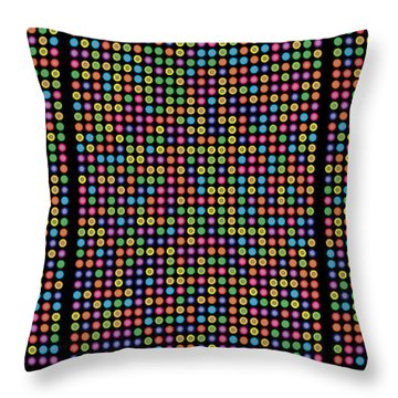 768 Digits Of Pi Up To Feynman Point, E And Phi Throw Pillow by Martin Krzywinski