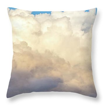 Throw Pillow featuring the photograph Clouds by Les Cunliffe