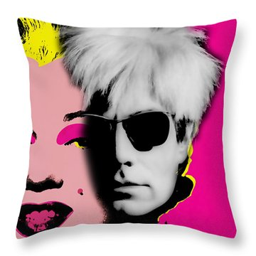 Andy Warhol Collection Throw Pillow by Marvin Blaine