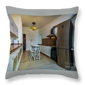 Throw Pillow featuring the photograph Apartment In The Heart Of Cadiz by Pablo Avanzini