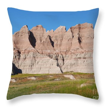 Badlands National Park South Dakota Throw Pillow by Louise Heusinkveld