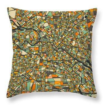 Berlin Map Throw Pillow