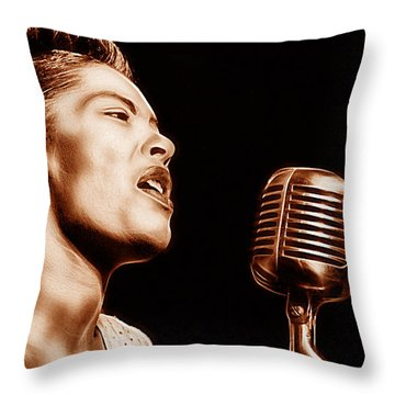 Billie Holiday Collection Throw Pillow by Marvin Blaine