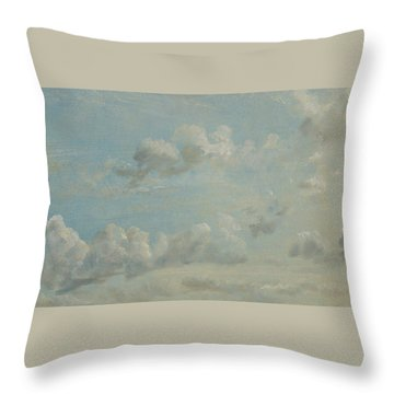 British Title Cloud Study Throw Pillow