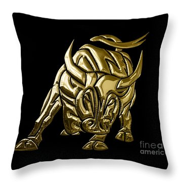Bull Collection Throw Pillow