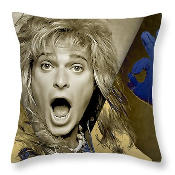 David Lee Roth Collection Throw Pillow by Marvin Blaine