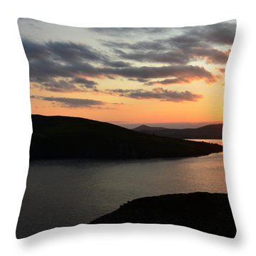 Throw Pillow featuring the photograph Evening In Dingle by Barbara Walsh