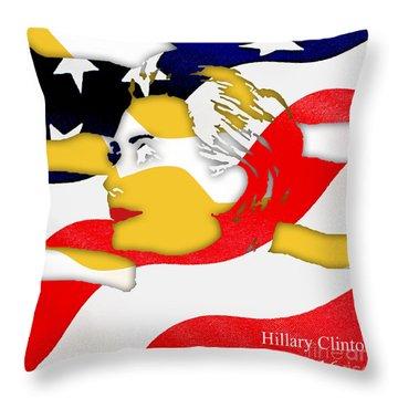 Hillary Clinton 2016 Collection Throw Pillow