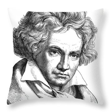 Ludwig Van Beethoven Throw Pillow by Granger