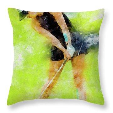 Michelle Wie Throw Pillow