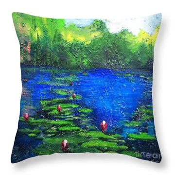 8 Mile Creek Lagoon - Bajool - Original Sold Throw Pillow