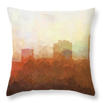 Throw Pillow featuring the digital art New Orleans Louisiana Skyline by Marlene Watson