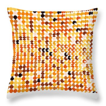 Pi Approximate Packing Of Circles Throw Pillow by Martin Krzywinski