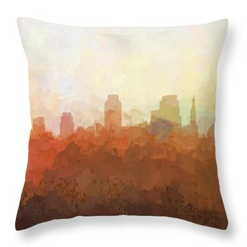 Throw Pillow featuring the digital art Sacramento California Skyline by Marlene Watson