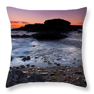 Second Valley Sunset Throw Pillow by Bill Robinson