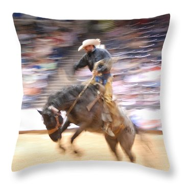 8 Seconds Throw Pillow