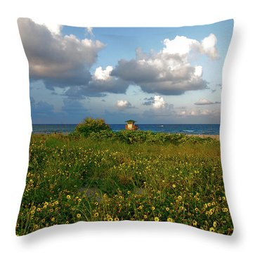 Throw Pillow featuring the photograph 8- Sunflowers In Paradise by Joseph Keane