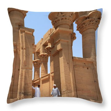 Temple Of Isis Throw Pillow