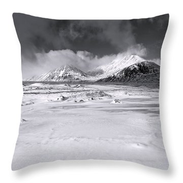 The Black Mount Throw Pillow