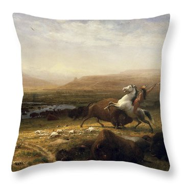 The Last Of The Buffalo Throw Pillow
