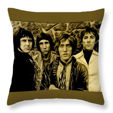 The Who Collection Throw Pillow