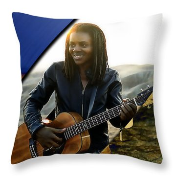 Tracy Chapman Collection Throw Pillow by Marvin Blaine
