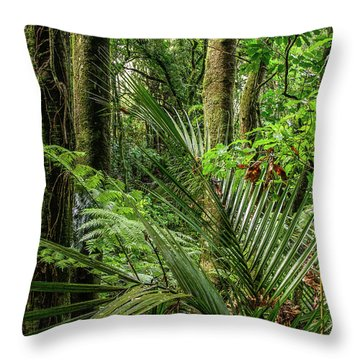 Throw Pillow featuring the photograph Tropical Jungle by Les Cunliffe