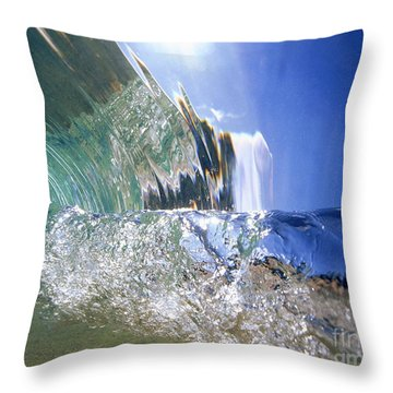 Underwater Wave Throw Pillow by Vince Cavataio - Printscapes