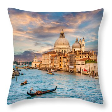 Venice Sunset Throw Pillow