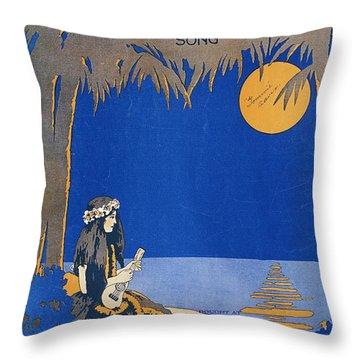 Vintage Hawaiian Art Throw Pillow