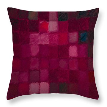 81 Color Fields - Madder Lake Throw Pillow