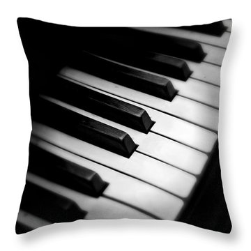 Throw Pillow featuring the photograph 88 Keys To The Heart by Aaron Berg