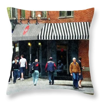 8th Ave. And W 22nd Street Chelsea Throw Pillow by Susan Savad