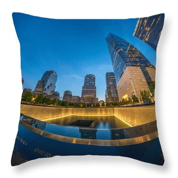 9/11 Memorial Throw Pillow
