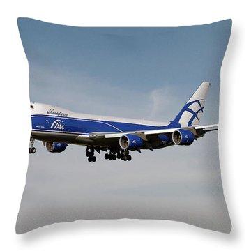 Cargo Plane Throw Pillows