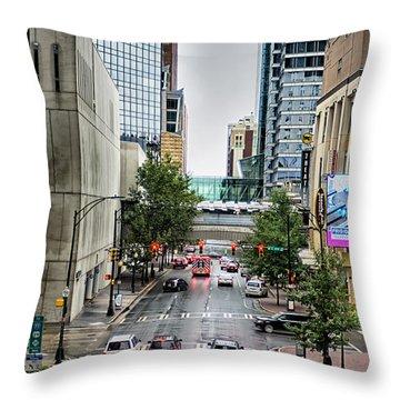 Charlotte North Carolina Views Around  Downtown Throw Pillow