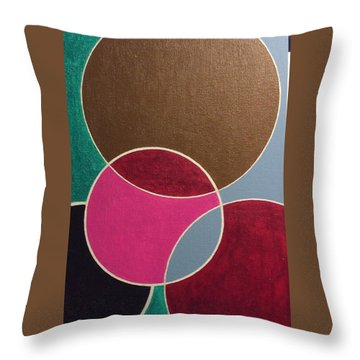 Circle Group Throw Pillow