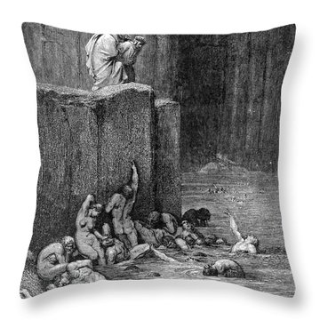 Dante: Inferno Throw Pillow by Granger