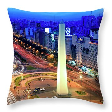 9 De Julio Avenue Throw Pillow by Bernardo Galmarini
