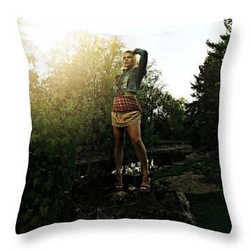 Divinely Dangerous Throw Pillow