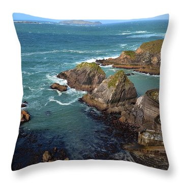 Throw Pillow featuring the photograph Dunquin Pier by Barbara Walsh