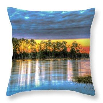 Throw Pillow featuring the photograph Flint Creek by Maddalena McDonald