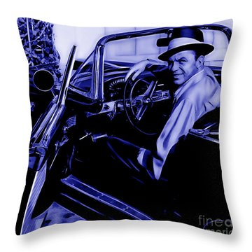 Frank Sinatra Collection Throw Pillow by Marvin Blaine