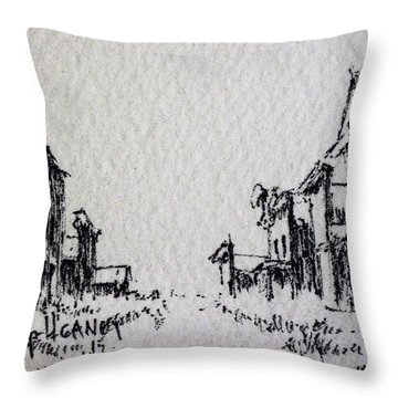 Ghost Town Throw Pillow by Kevin Heaney