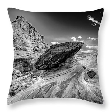 Hoodoos At Stud Horse Point In Arizona Throw Pillow by Alex Grichenko