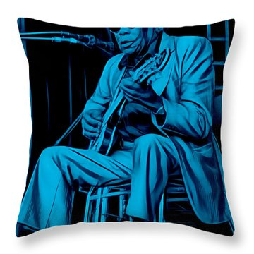 John Lee Hooker Collection Throw Pillow by Marvin Blaine