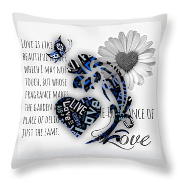 Love Throw Pillow by Marvin Blaine