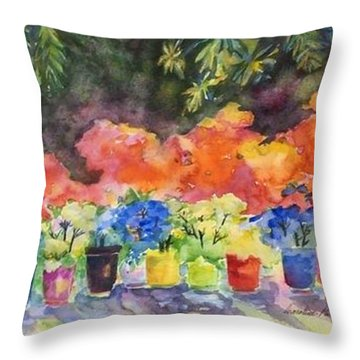 9 Lucky Plants Throw Pillow