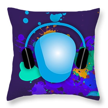 Music Throw Pillow by Marvin Blaine