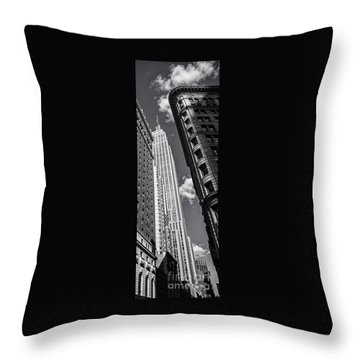 Throw Pillow featuring the photograph New York  by Juergen Held